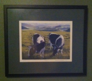 pretty obvious choice for the art on our walls feature