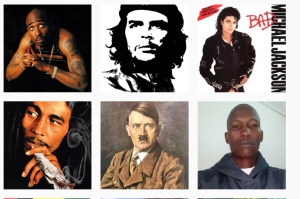 This guy got six likes for his selfie, Hitler got 3 likes, Che got one like and the others got none.