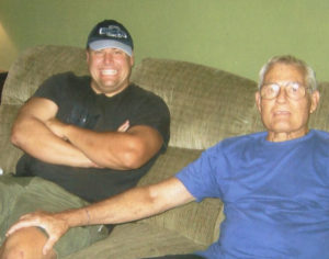 brother and dad